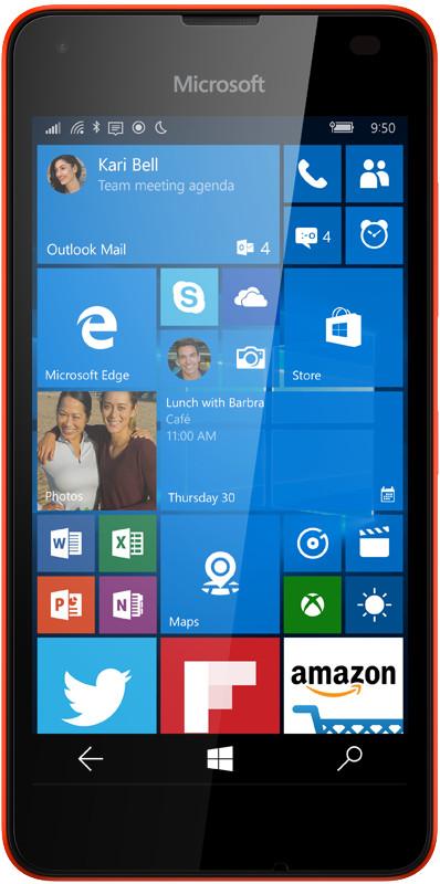 Microsoft Lumia 550 czerwona