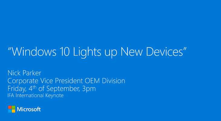 Windows 10 Lights up New Devices