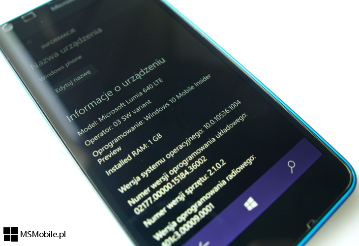 Windows 10 Mobile Build 10536