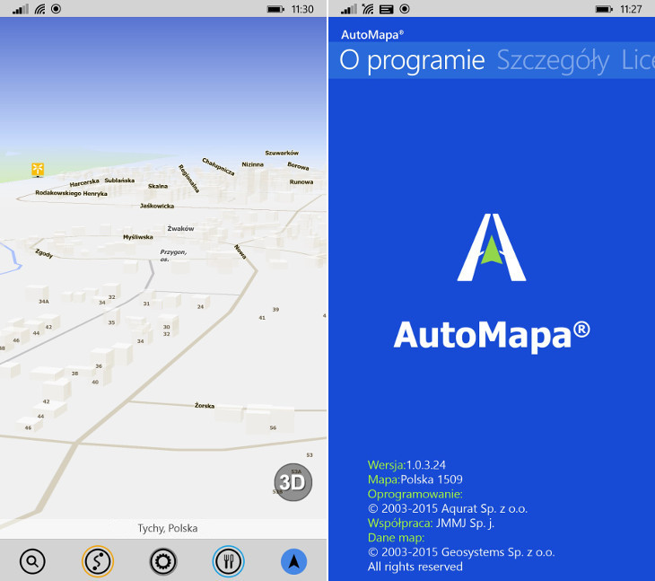 AutoMapa Windows Phone