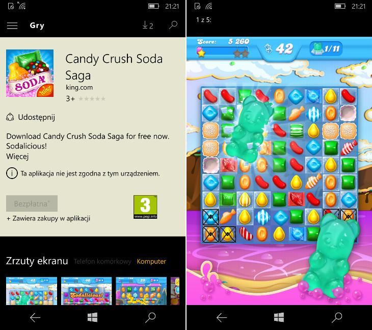 Candy Crush Soda Saga dla Windows 10