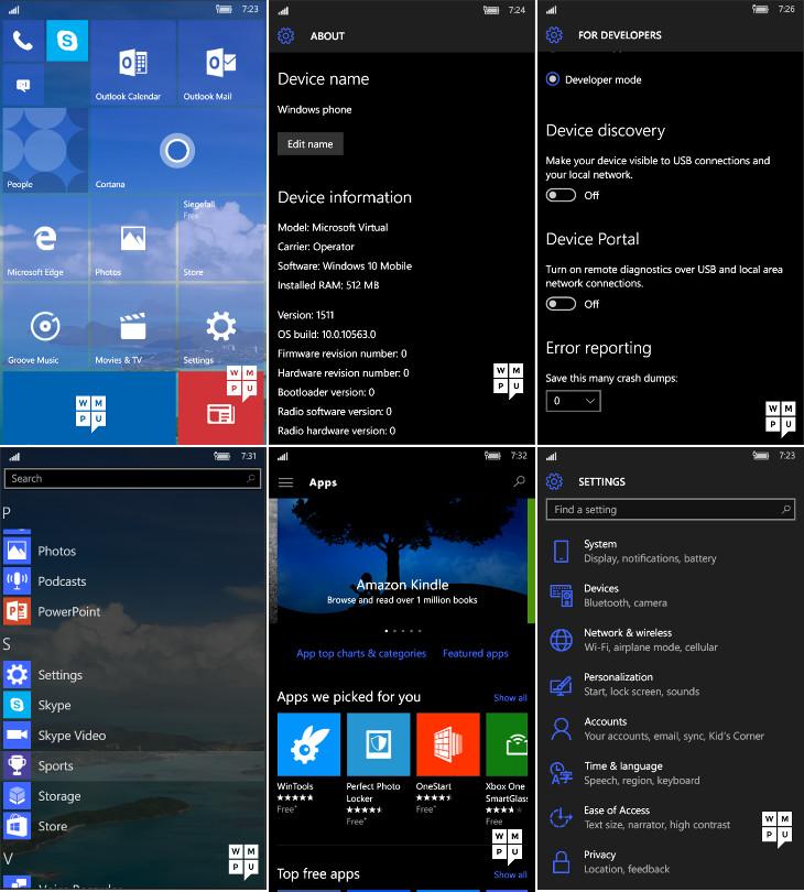 Windows 10 Mobile Build 10563