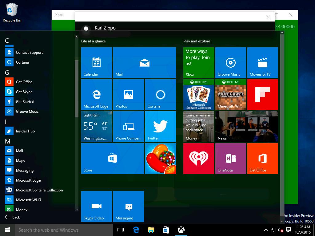Windows 10 PC Build 10558 - Wysyłanie wiadomosci SMS