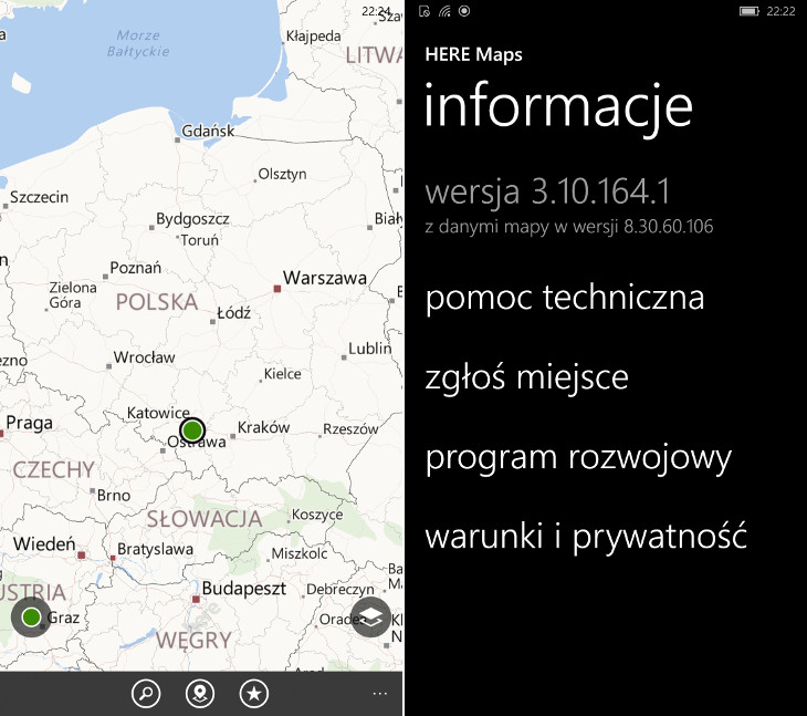 HERE Maps dla Windows 10 Mobile