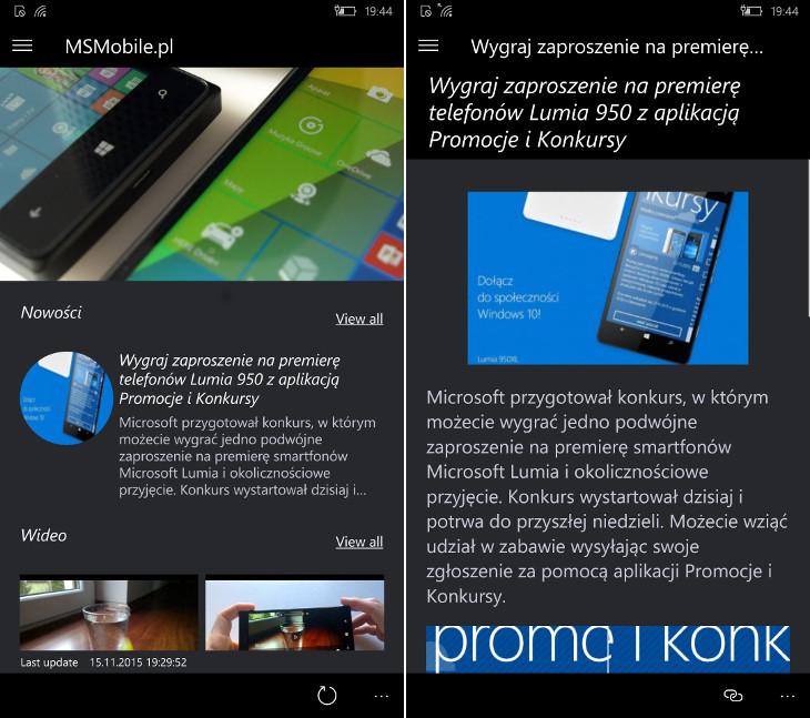 Aplikacja MSMobile.pl
