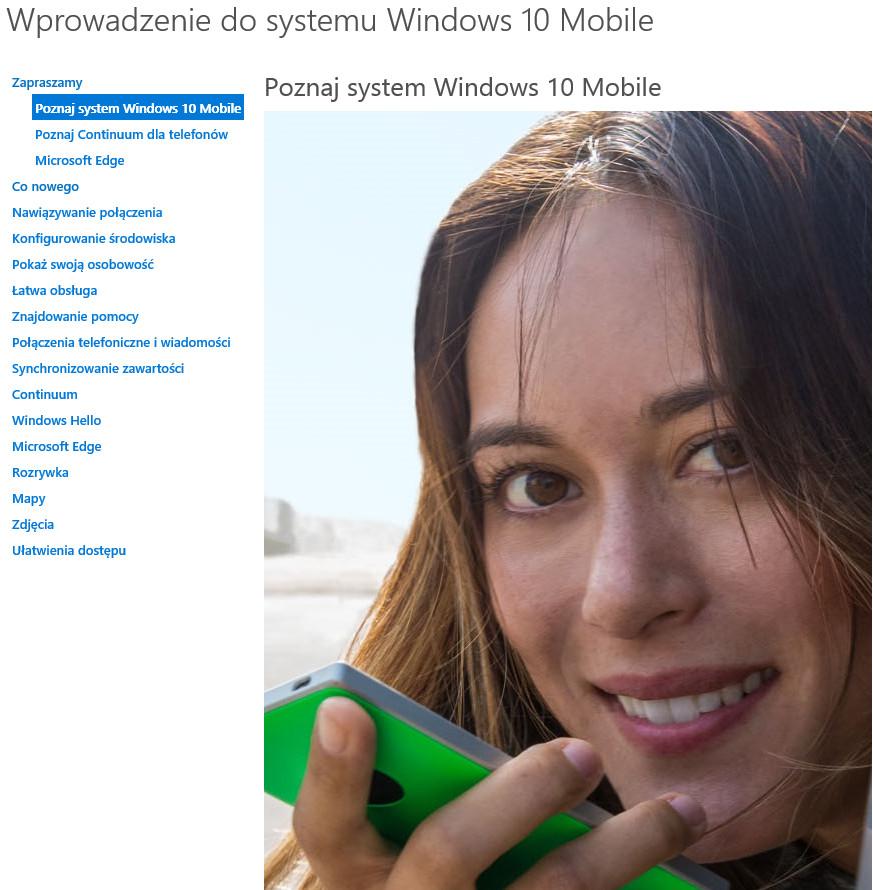 Wprowadzenie do systemu Windows 10 Mobile