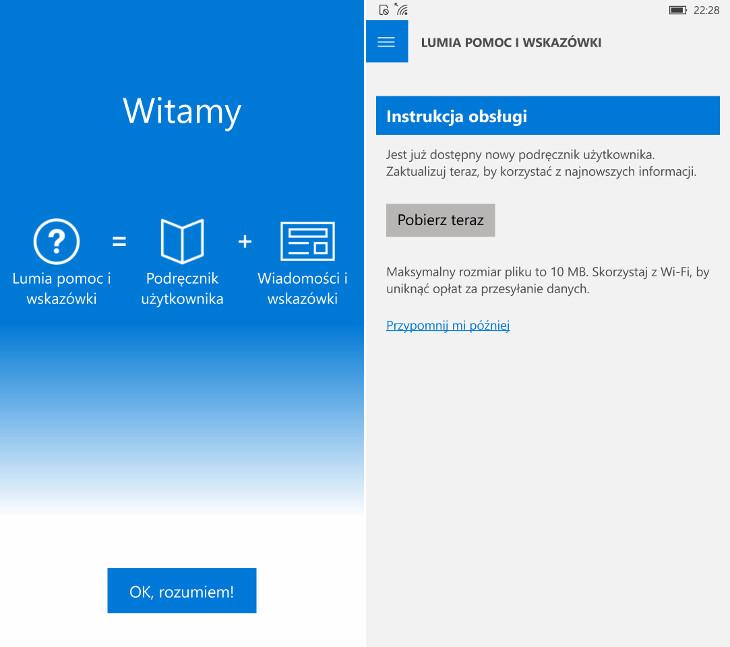 Lumia pomoc i wskazówki dla Windows 10 Mobile