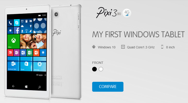 Alcatel OneTouch Pixi 3 Windows 10 Mobile