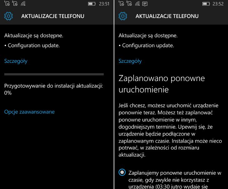 Fast Configuration Update dla Windows 10 Mobile Windows Insider