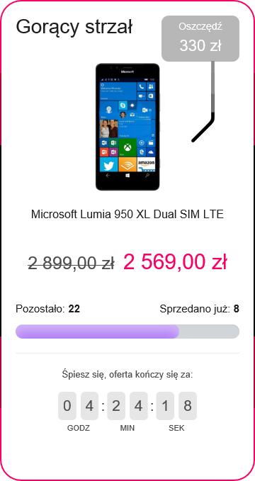 Gorący strzał Lumia 950 XL