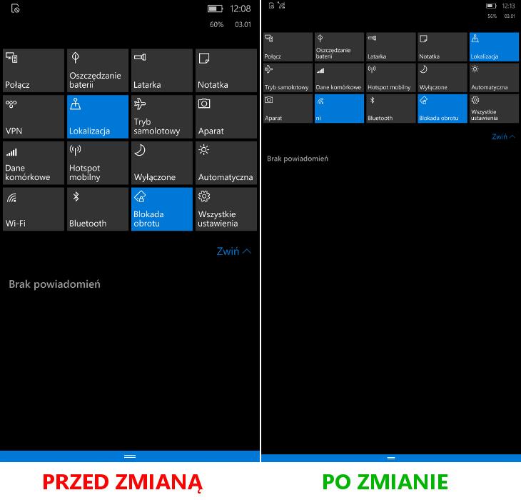 Windows 10 Mobile - 5 skrótów w centrum akcji