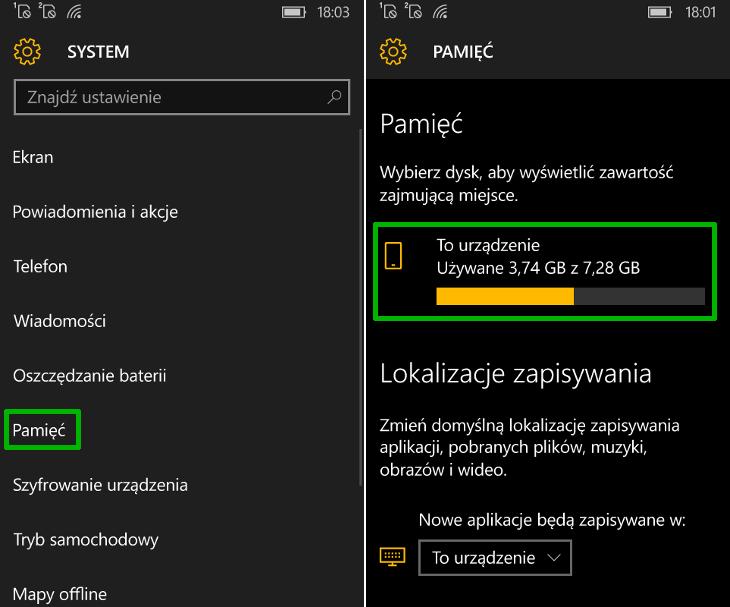 Data instalacji aplikacji w Windows 10 Mobile
