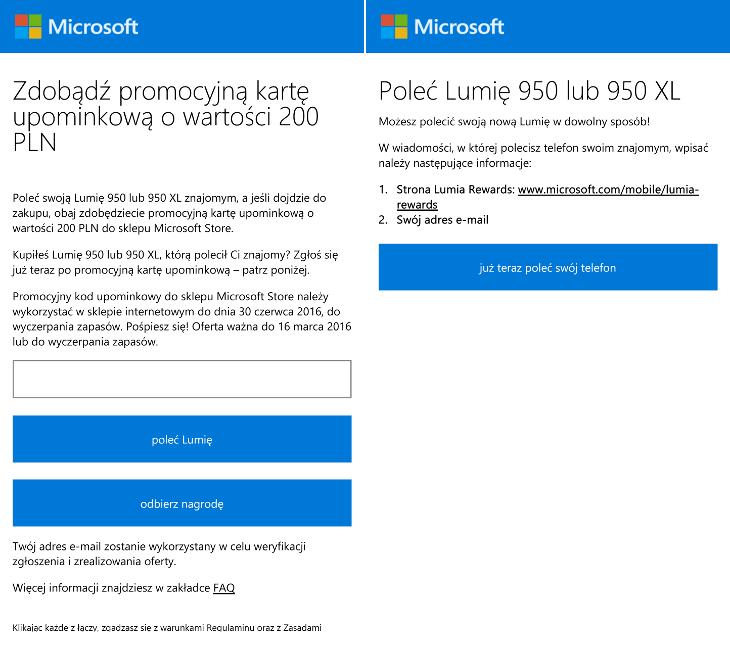 Poleć telefon Lumia 950 lub Lumia 950 XL i odbierz 200zł