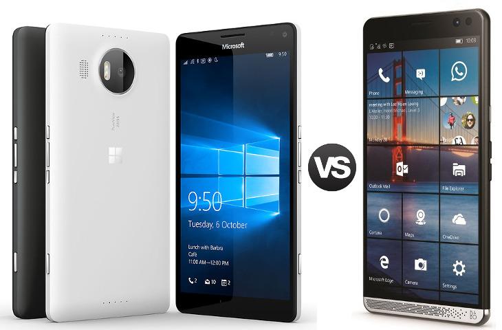 Microsoft Lumia 950 XL vs HP Elite x3