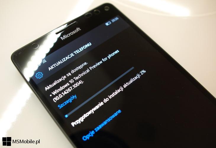 Windows 10 Mobile Build 14267.1004