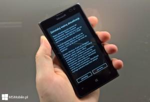 Powiadomienie o aktualizacji Windows 10 Mobile