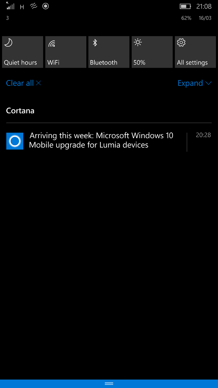 Cortana - aktualizacja Windows 10 Mobile