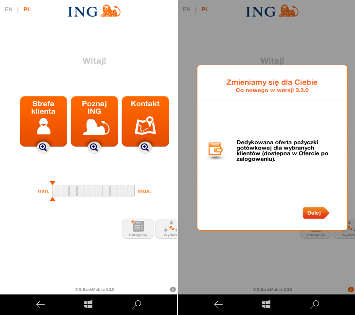 INGMobile 3.3.0 dla Windows 10 Mobile
