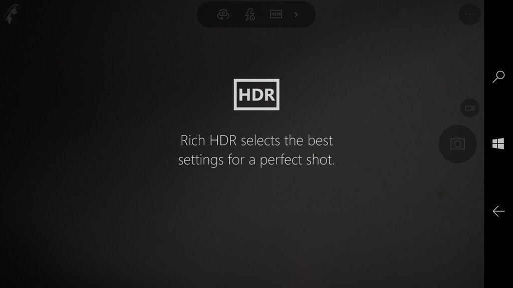Aparat Windows - tryb HDR