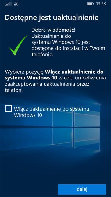 Upgrade Advisor - dostępność aktualizacji Windows 10 Mobile