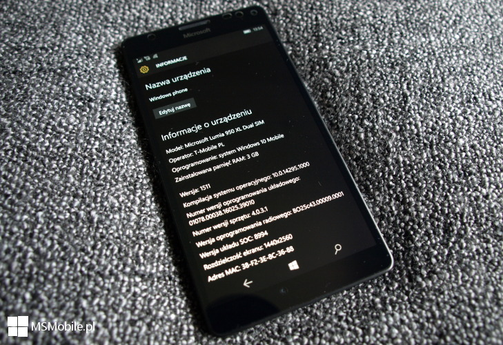Windows 10 Mobile Build 14295