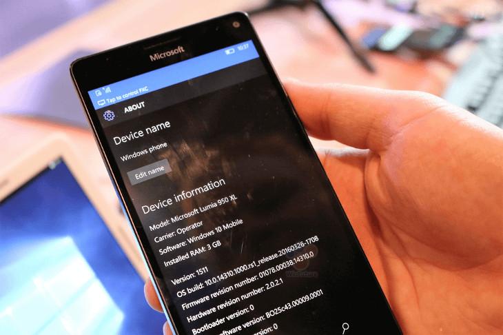Windows 10 Mobile Build 14310