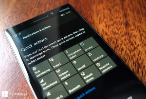 Windows 10 Mobile Build 14322 - szybkie akcje