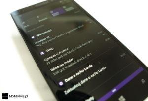 Centrum akcji - powiadomienia ze sklepu w Windows 10 Mobile