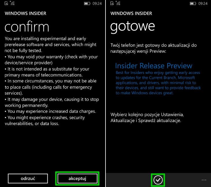 Krąg Insider Release Preview w aplikacji Windows Insider