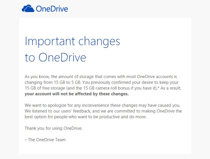 Zmiany OneDrive