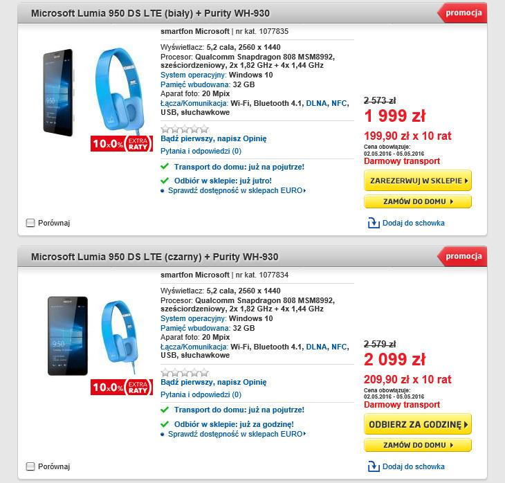 Promocja Lumia 950 RTV EURO AGD