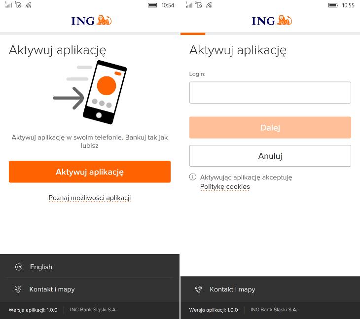 Aktywacja Moje ING mobile