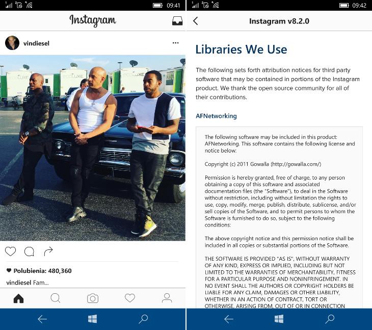 Instagram dla Windows 10 Mobile