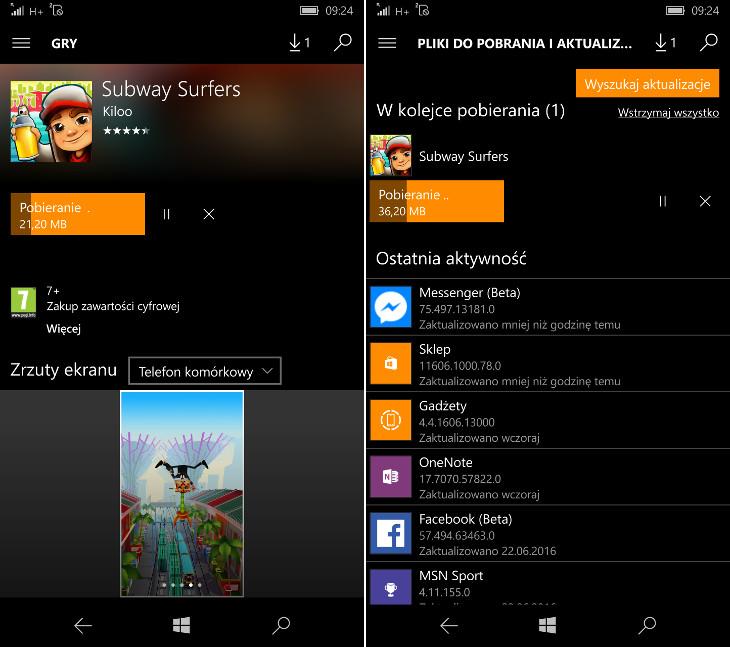 Sklep Windows 10 Mobile