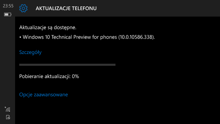 Windows 10 Mobile Build 10586.338