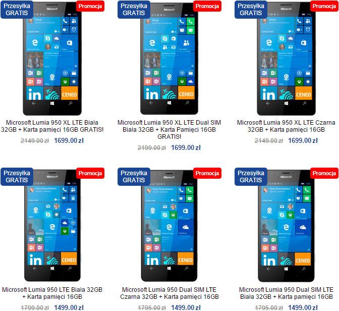 Promocja Lumia 950 i Lumia 950 XL