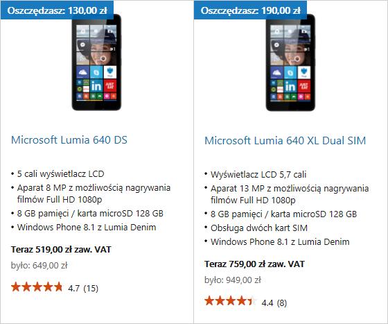 Promocja Lumia 640 XL w Sklepie Microsoft