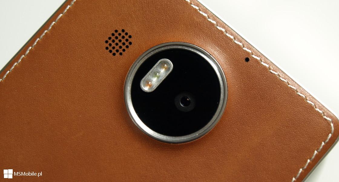 Skórzane etui firmy Mozo dla telefonu Lumia 950 XL
