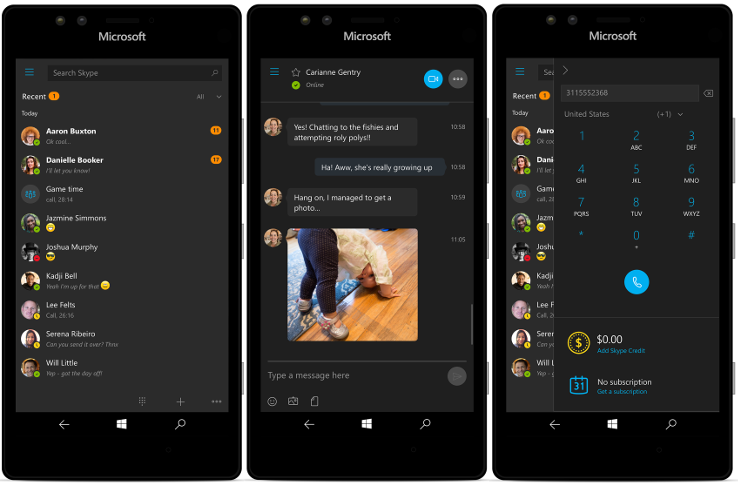 Skype Preview dla Windows 10 Mobile Anniversary Update
