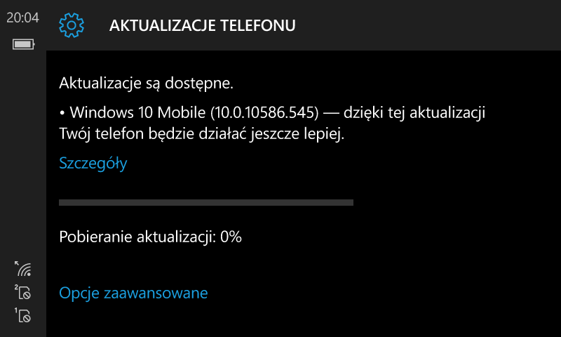 Windows 10 Mobile Build 10586.545