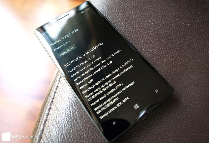 Windows 10 Mobile Build 14393.82 - Lumia 930