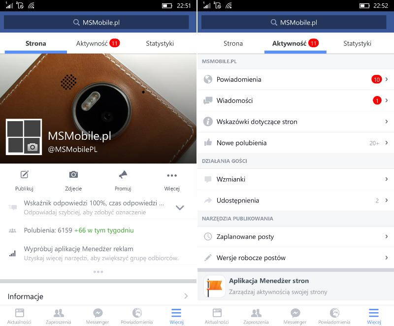 Facebook Windows 10 Mobile