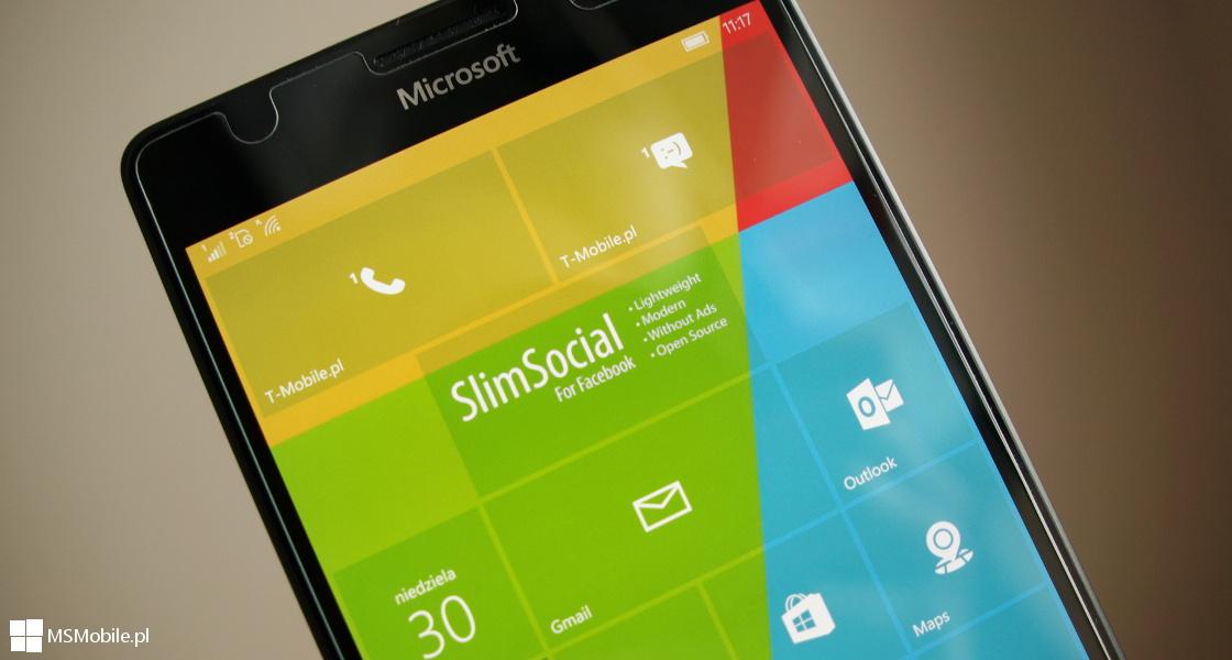 SlimSocial for Facebook - Windows 10 Mobile
