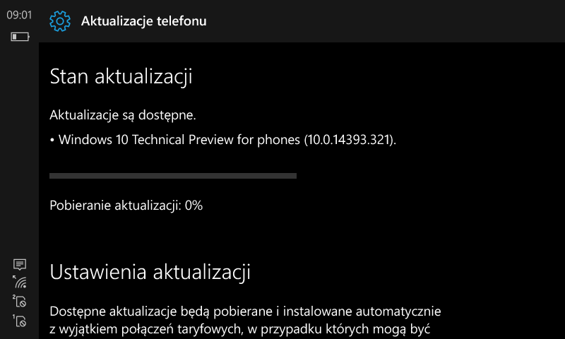 Windows 10 Mobile Build 14393.321 - Windows Insider