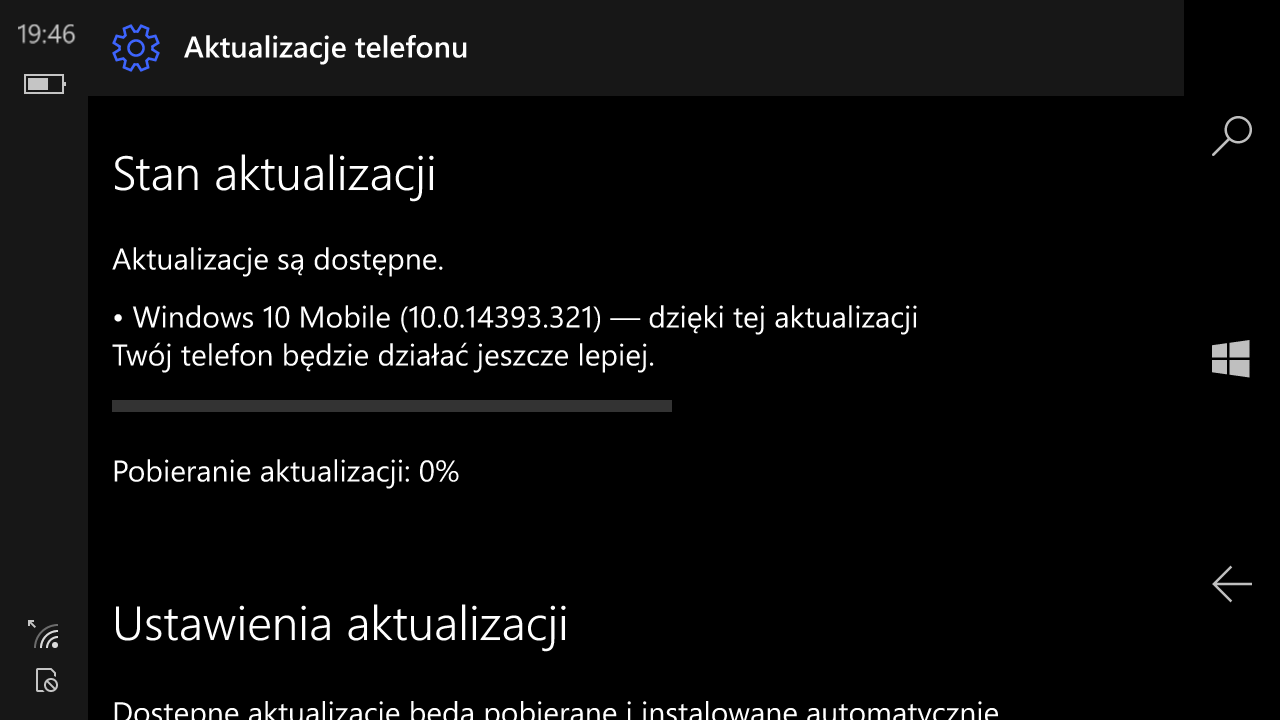 Windows 10 Mobile Build 14393.321