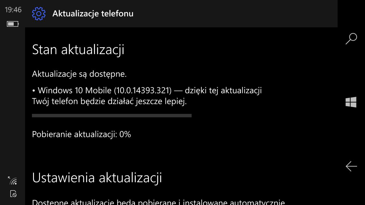 Windows 10 Mobile Build 14393.321