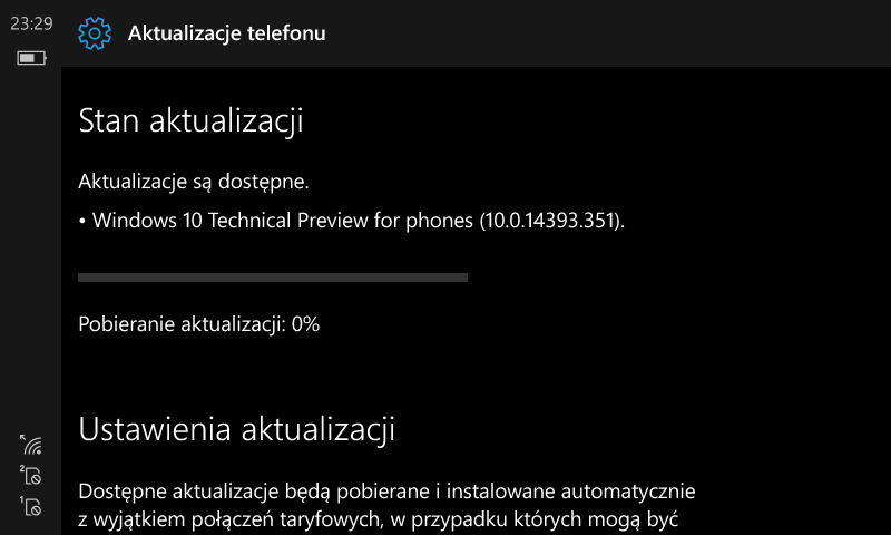 Windows 10 Mobile Build 14393.351