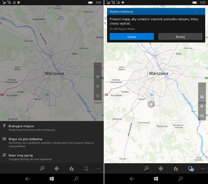 Mapy Windows zgłaszanie opinii
