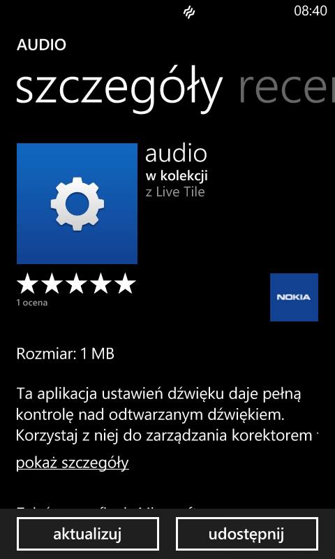 audio 1.2.2.10 - Nokia Lumia Windows Phone 8
