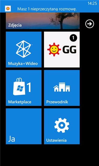 Komunikator GG Windows Phone